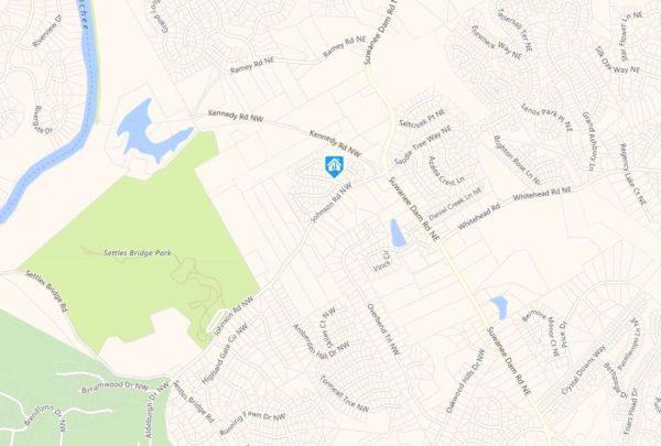 Suwanee GA Map Location Ashleigh Walk Neighborhood