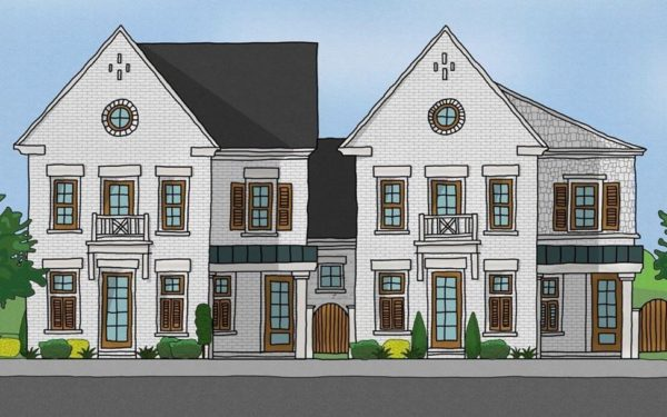 Attached Courtyard Homes In Woodstock City Homes