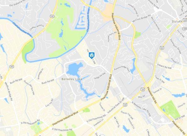Map Location Hermitage Plantation GA